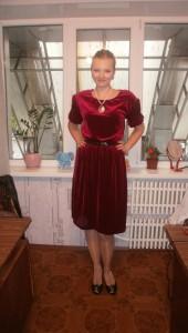 Наша первая работа - Нарядное бархатное платье_2