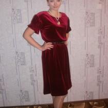 Наша первая работа - Нарядное бархатное платье