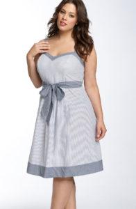 пошив платья для полных женщин
