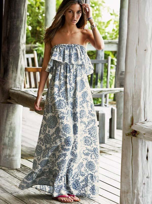 Как пошить платье длинное на лето?